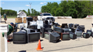 Pile of TVs at Electronic Drop Off