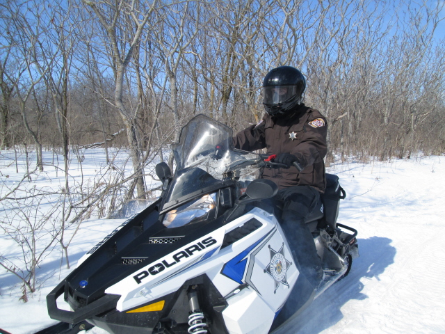 Sheriff on Snowmobile