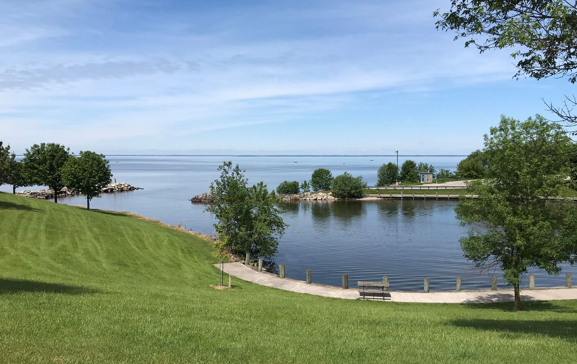 Stockbridge Harbor overlooking Lake Winnebago.