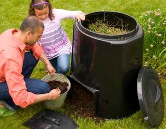 Father and Daughter Cool Composting