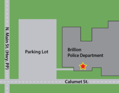 Brillon Police Department Map
